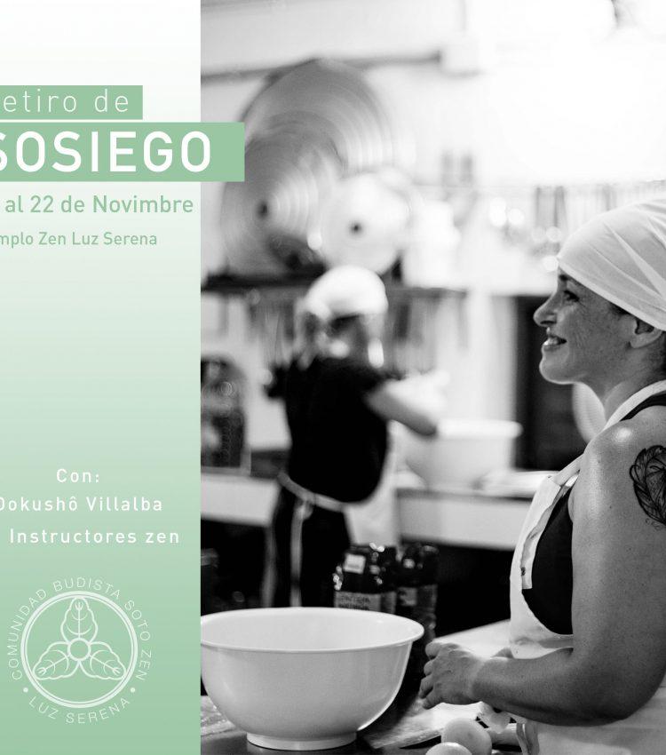 Pre-Inscripción a Retiro de Sosiego 19 al 22 de noviembre